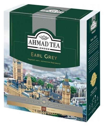 Чай Ahmad Earl Grey черный бергамот 100пак/уп 5951-08  Ahmad Tea