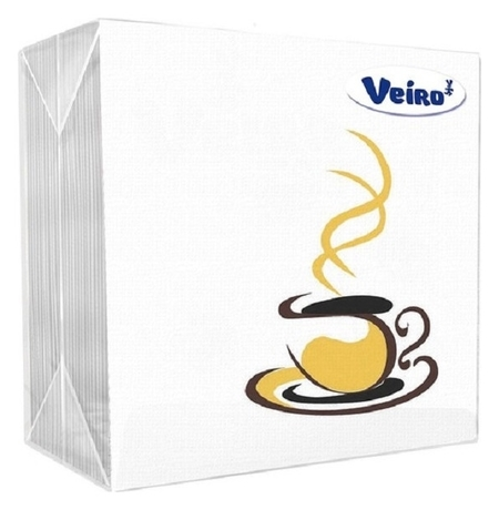 Салфетки Veiro сервировочн.( кофе ), 1-сл.,50шт./уп.24р1/50а  Veiro professional