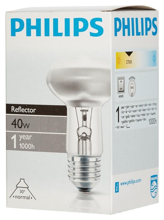 Электрическая лампа Philips рефлект. R63 40W E27 30D (30)  Philips