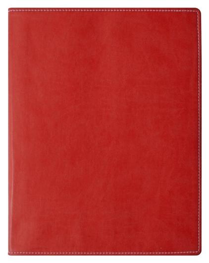 Бизнес-тетрадь Attache клэр А5, 120л, клетка, кожзам, красная 11.02  Attache