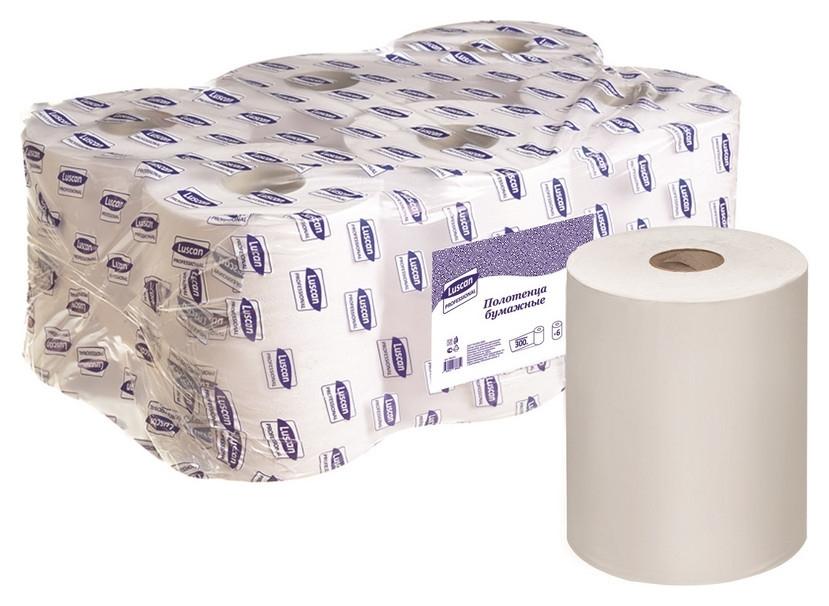 Полотенца бумажные для дисп. Luscan Professional 1сл300м 6рул/уп  Luscan