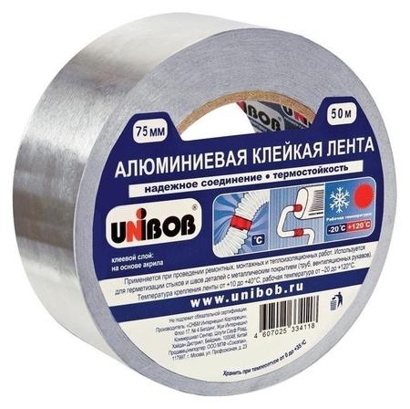 Клейкая лента алюминиевая 75 мм х 50 м  Unibob