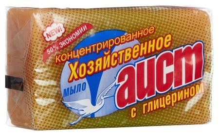 Мыло хозяйственное аист глицериновое 150гр.  Аист