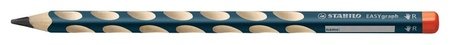 Карандаш чернографитный Easygraph, трехгранный С углублениями, ДЛЯ правшей  Stabilo