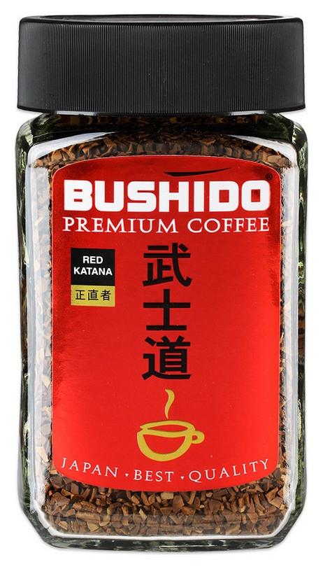 Кофе Bushido Red Katana растворимый,50г стекло  Bushido