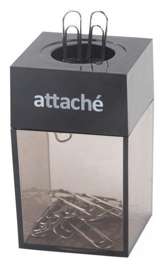 Скрепочница магнитная Attache с металл. скрепками 28 мм, цвет черный  Attache