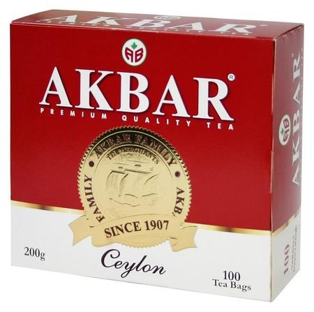 Чай Akbar Ceylon черный, 100 пакx2гр/уп  Akbar