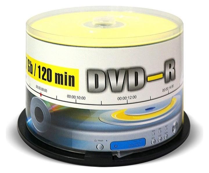 Носители информации Dvd-r, 16x, Mirex, Cake/50, Ul130003a1b  Mirex