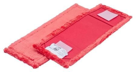 Насадка МОП 40х13 см микрофибра ухо+карман красный Mf2090  A-VM