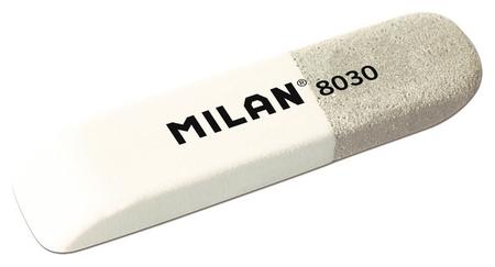 Ластик каучуковый Milan 8030 комбинир. для стирания чернил и графита  Milan