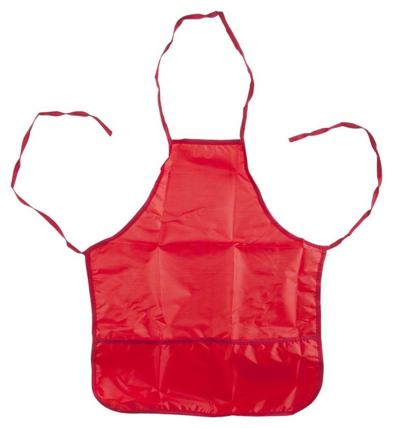 Фартук для труда №1 School красный 44x54 см, 2 кармана  №1 School