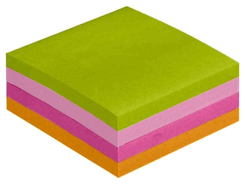 Блок-кубик Attache Selection куб 51х51, неон-1 4 цвета 400 л  Attache