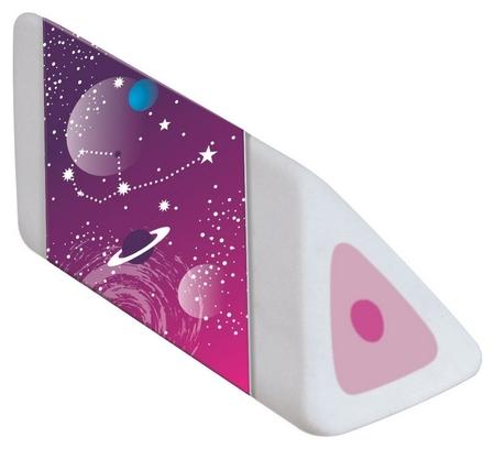 Ластик Maped Cosmic Kids треуг форм белый в картонном футляре, узор космос  Maped