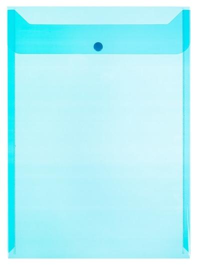 Папка-конверт на кнопке КНК 150 синий прз, вертикул. 10шт/уп  Attache