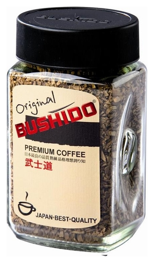 Кофе Bushido Original растворимый,100г стекло  Bushido