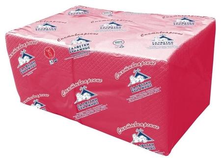 Салфетки Profi Pack 2 сл. 24х24 красные 250 шт./уп.  NNB