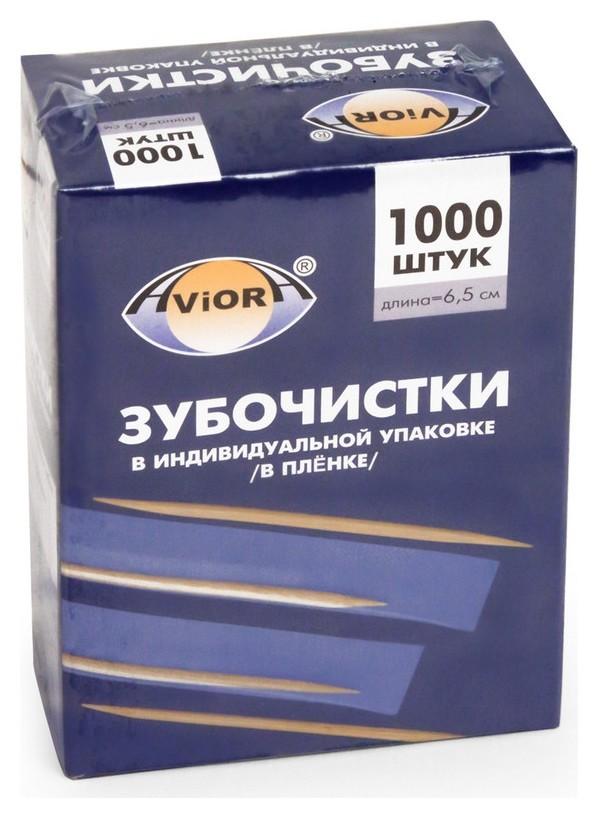 Зубочистки бамбук в инд. пп-упак. 1000шт./уп. 401-488  Aviora