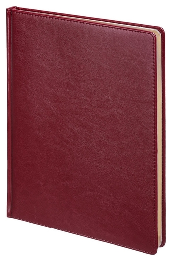 Ежедневник недатированный бордо,а4,210х300мм,136л,sidney Nebraska 3-539/01  Альт