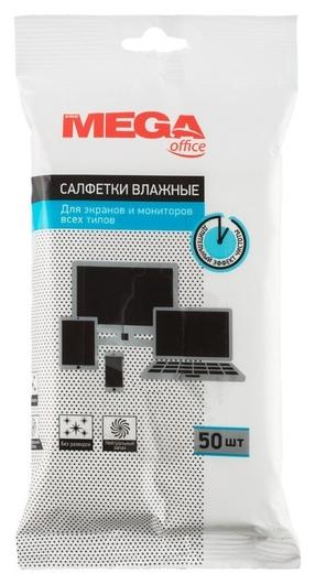 Салфетки Promega Office влажные для экранов и мониторов всех типов, 50шт.  ProMEGA