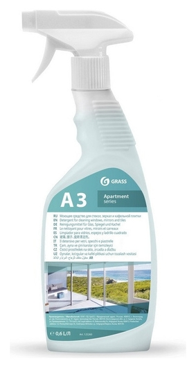 Профхим для стекл-зеркал поверхн и кафеля Grass/apartament Series а3+, 0,5л  Grass