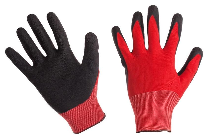 Перчатки защитные нейлоновые с латексным текстурированным покрытием (Р.9)  NNB
