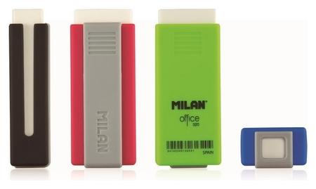 Ластик пластиковый Milan Office 320 белый, в пластиковом держателе (В асс.)  Milan