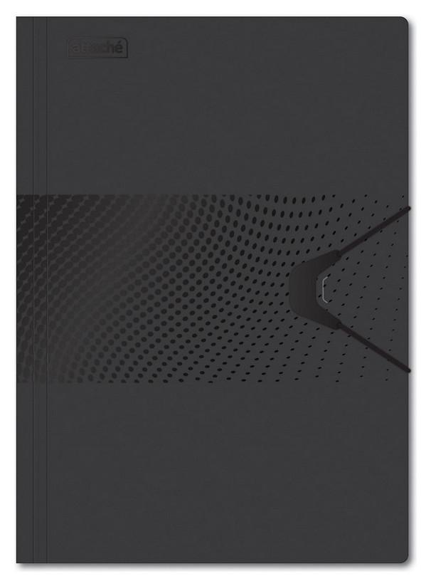Папка на резинке Attache Digital,черный  Attache
