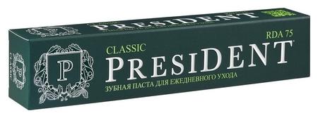 Зубная паста President Classic (75 RDA) 75 мл  President