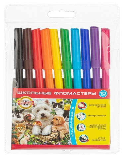 Фломастеры Koh-i-noor домашние животные 10 цв. 1002/10 TE Koh-i-noor