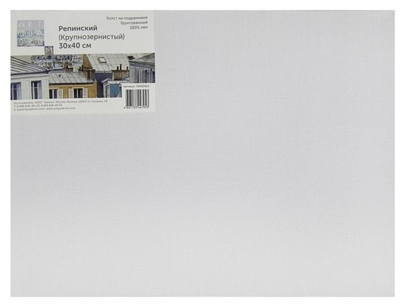 Холст репинский, 30х40 см (100% лен, 405 г/м2, крупнозернистый), т0003913  Туюкан