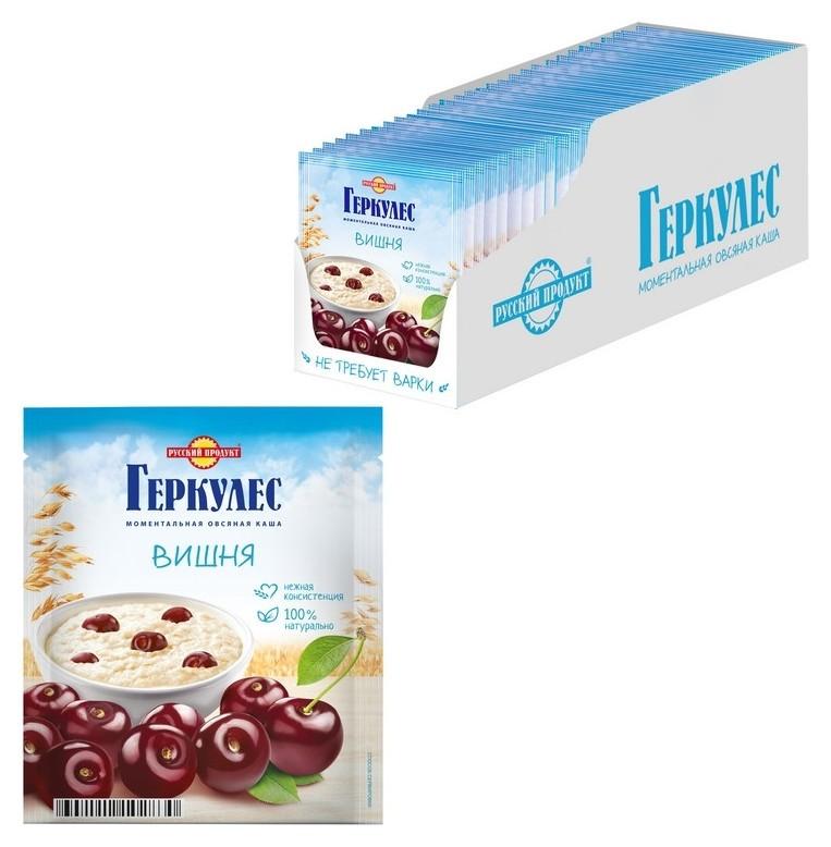 Каша овсяная русский продукт геркулес с вишней, 30штх35 г  Русский продукт