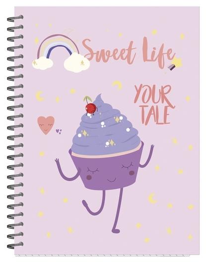 Бизнес-тетрадь а5,96л,кл,греб,мат.лам. Attache Selection Sweet Life капкейк  Attache