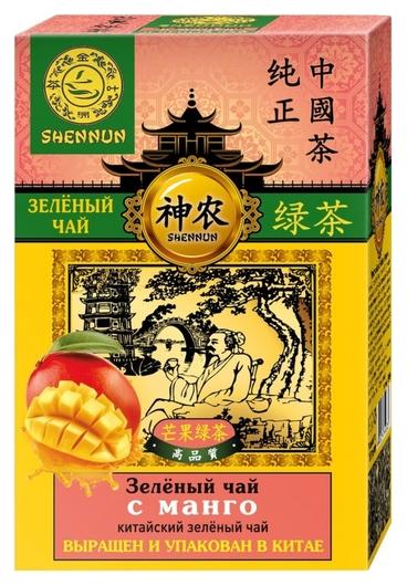 Чай Shennun зеленый с манго листовой, 100г в13034  Shennun