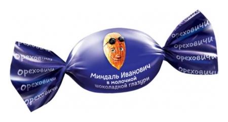 Конфеты миндаль иванович в шоколадной глазури, 500г ос704  Озерский сувенир