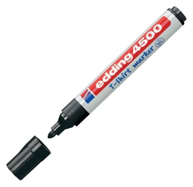 Маркер по ткани Edding E-4500/1 чёрный, 2-3мм.  Edding