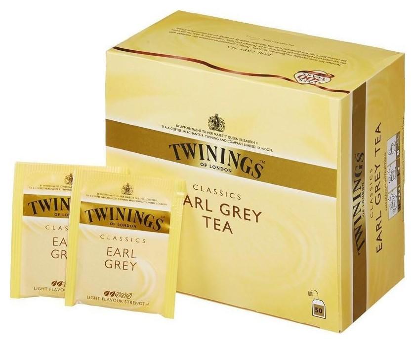Чай Twinings Earl Grey Tea черн.50 пак/уп  Twinings