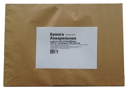Бумага для акварели в листах Kroyter А2 (594x416мм),1уп.100л,180гр.кр,13065  Kroyter