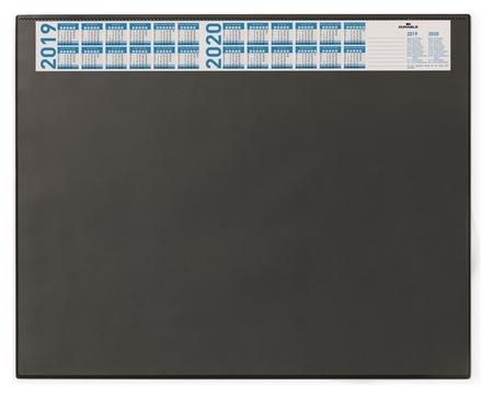 Коврик на стол Durable 52х65см черный с прозрачным листом, с календ 7204-01  Durable
