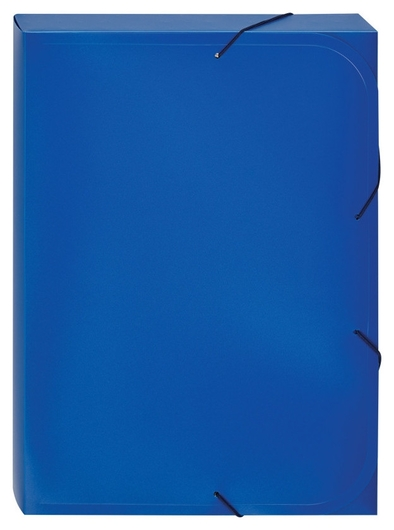 Папка на резинках -короб Attache,синий 318/045  Attache