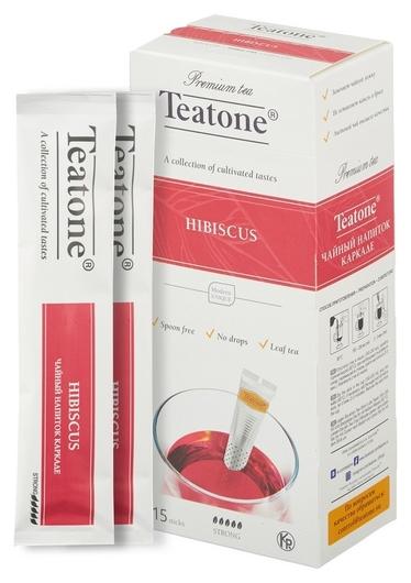 Чай Teatone каркадэ в металл.стике 15шт/уп. 741  Teatone