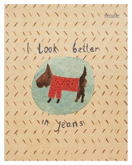 Тетрадь общая Kroyter а5,48л,клетка,скрепка In Jeans арт.06241  Kroyter
