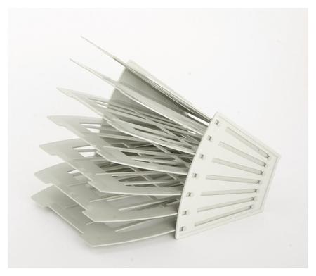 Лоток для бумаг Attache сборный на 6 отделений серый  Attache