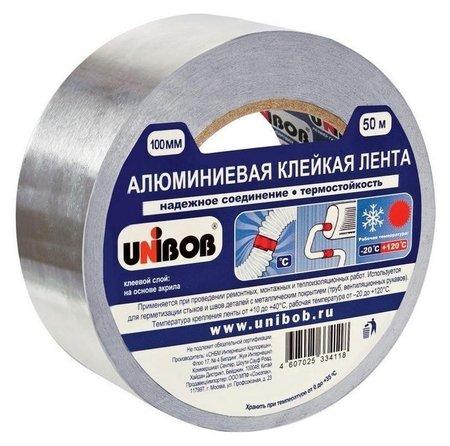 Клейкая лента алюминиевая 100 мм х 50 м  Unibob
