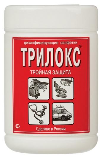 Дезинфицирующие салфетки трилокс 90 шт в упак., туба  Трилокс