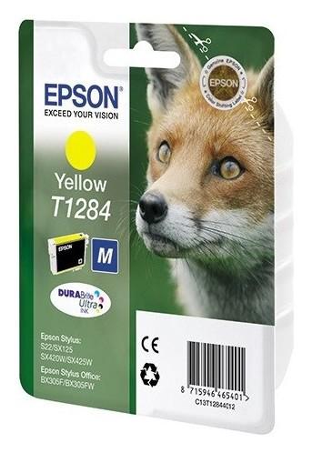 Картридж струйный Epson C13t12844012 жел. для St S22/sx125 Epson