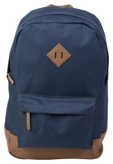 Рюкзак молодежный №1 School синий+ коричн.кож.зам  №1 School