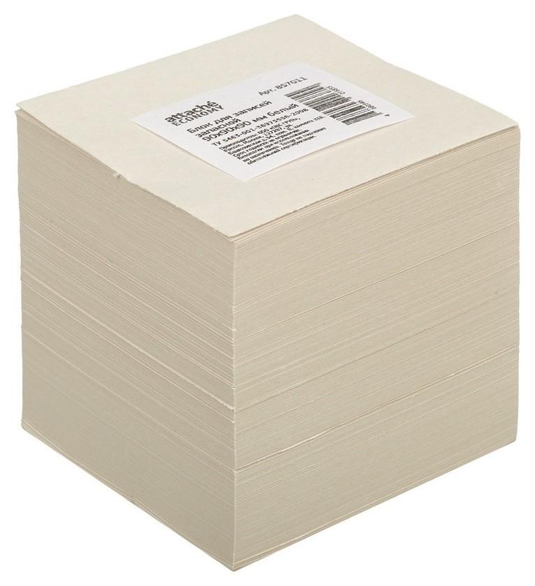 Блок для записей Attache эконом запасной 9х9х9 белый Т  Attache