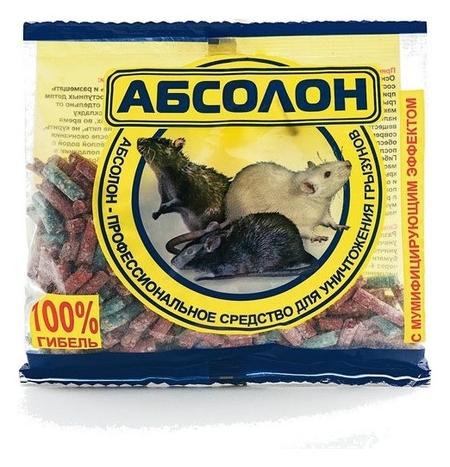 Средство от грызунов абсолон гранулы 100г пакет алгп100 NNB