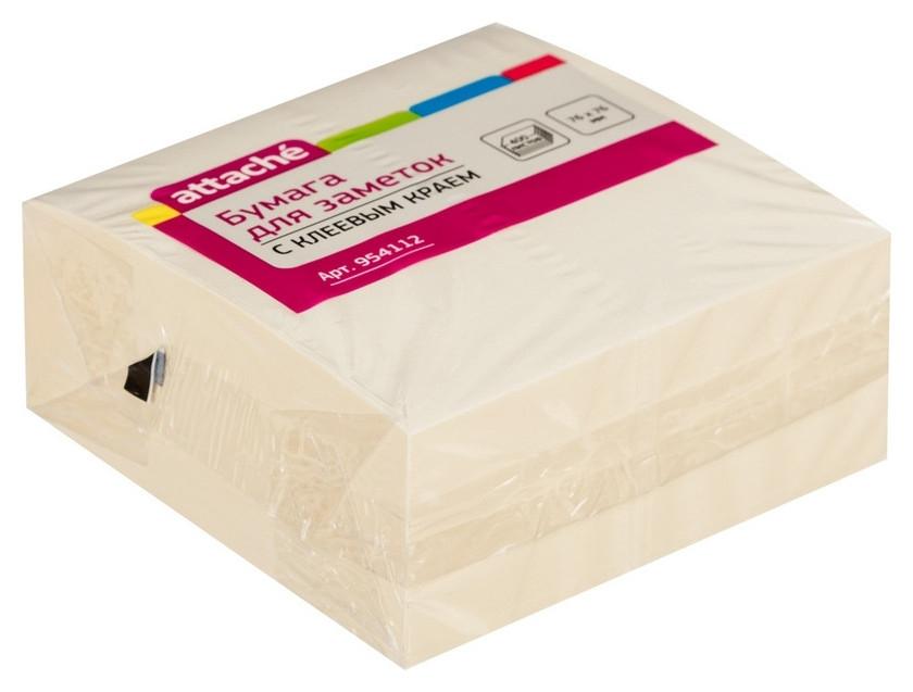 Блок-кубик Attache куб 76х76, пастельно жёлтый 400 л  Attache