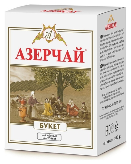 Чай азерчай букет чай черный крупно листовой, 400 г 131208/416986  Азерчай